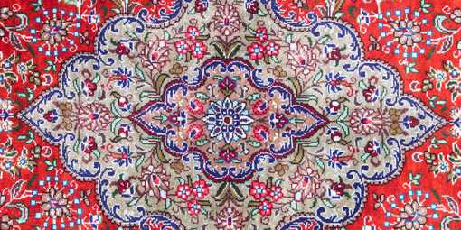 Close up of Oriental rug